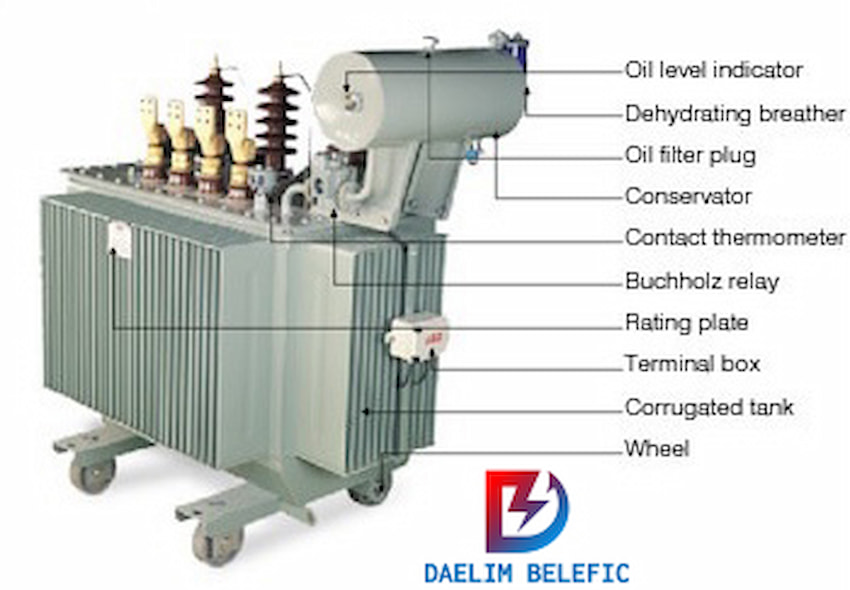 Oil Filled Transformer Three-Phase Distribution Transformer